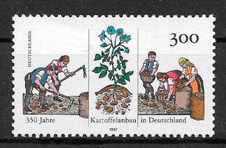 filatelia frutas Alemania 1997