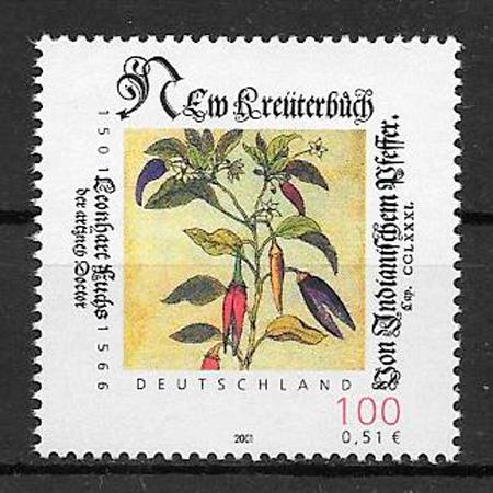 filatelia frutas Alemania 2001
