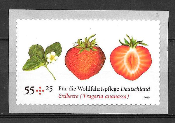 colección sellos frutas Alemania 2010