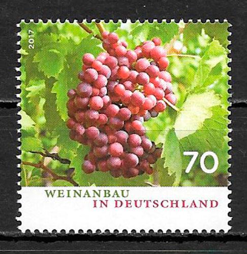 filatelia frutas Alemania 2017