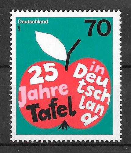 filatelia coleccción frutas Alemania 2018