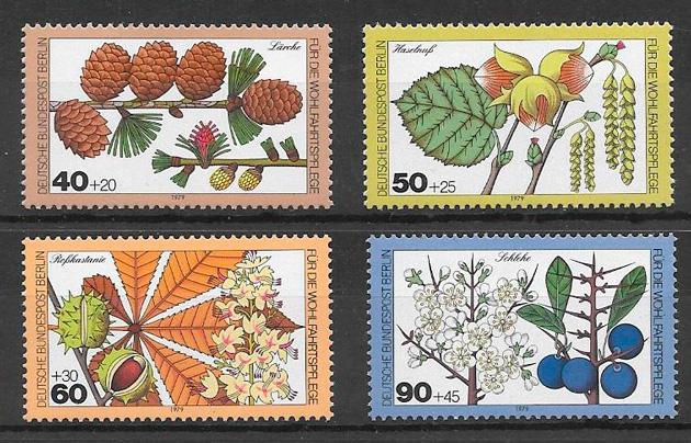 filatelia colección frutas Alemania - Berlin 1979