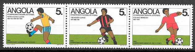 sellos futbol Angola 1989