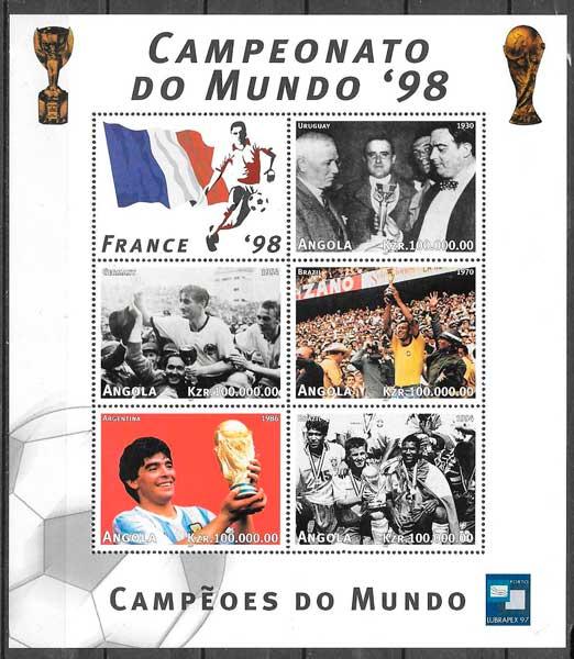 sellos futbol Angola 1997