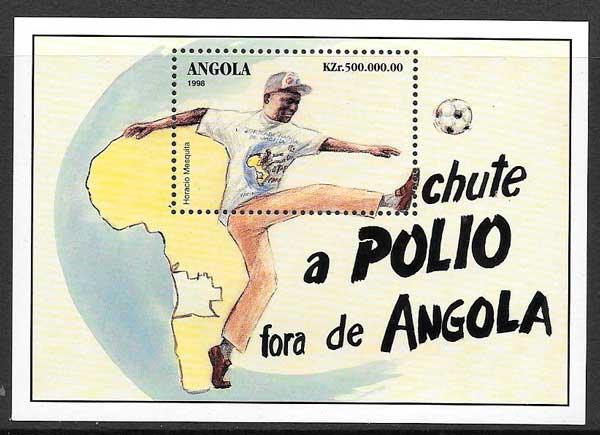 filatelia futbol Angola 1998