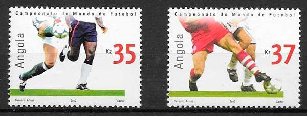 filatelia futbol Angola 2002