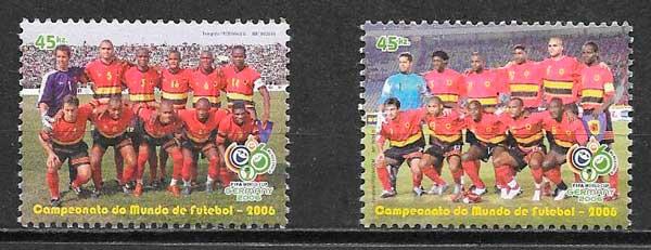 filatelia futbol Angola 2006