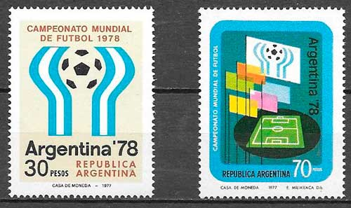 filatelia colección futbol Argentina 1977