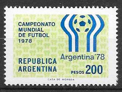 filatelia colección futbol Argentina 1978