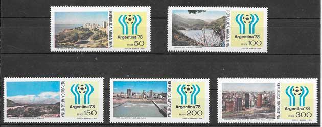 colección sellos futbol Argentina 1978