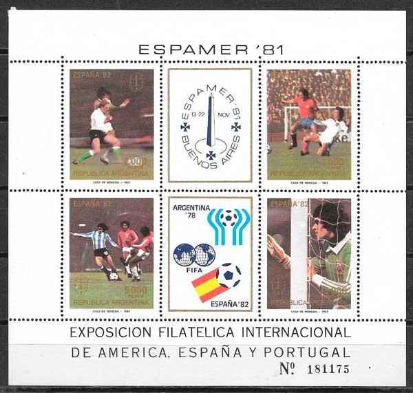 colección sellos futbol Argentina 1981