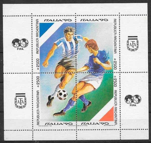 sellos futbol Argentina 1990