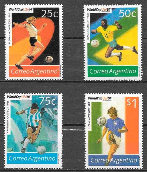 filatelia futbol 1994 argentina