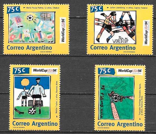 filatelia futbol Argentina 1994