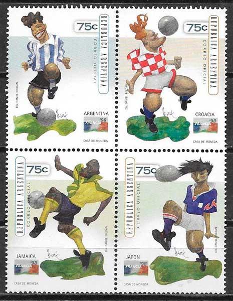 filatelia futbol Argentina 1998