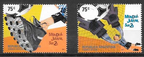 colección sellos futbol 2001 Argentina
