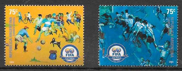 sellos futbol Argentina 2004