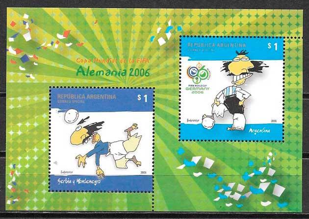 filatelia futbol 2006 Argentina