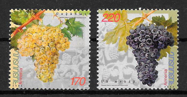 colección sellos frutas Armenia 2004