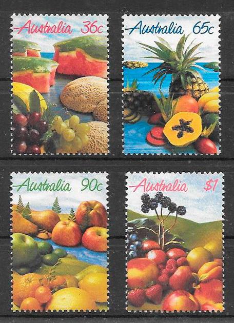 sellos frutas Australia 1987