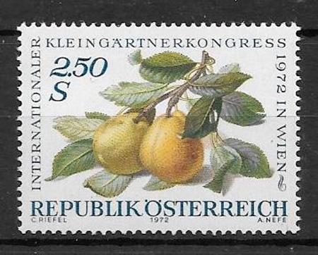 filatelia frutas Austria 1972