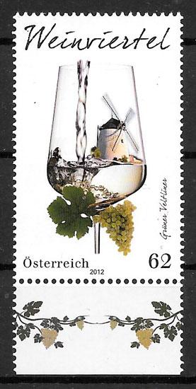 colección sellos Austria frutas