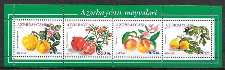 sellos frutas Azerbaiyan 2000