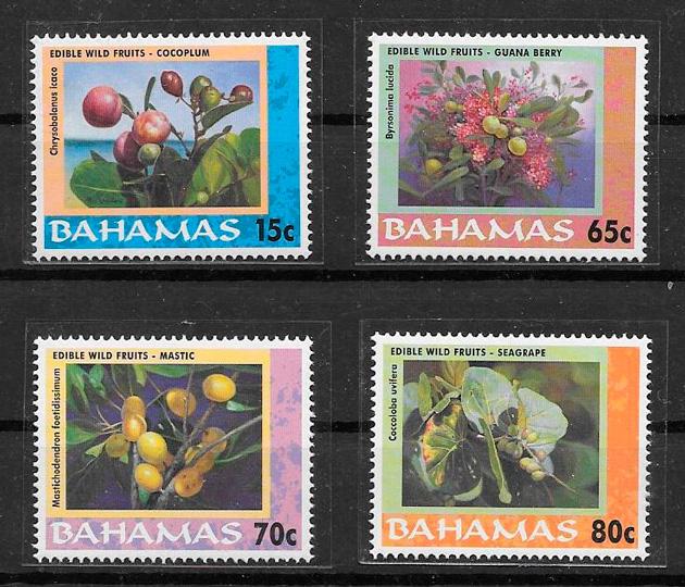 colección sellos frutas Bahamas 2001