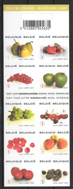 sellos frutas Belgica 2007