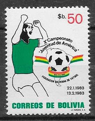 sellos futbol Bolivia 1983