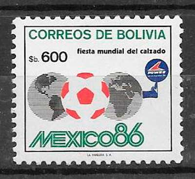 sellos fútbol Bolivia 1984