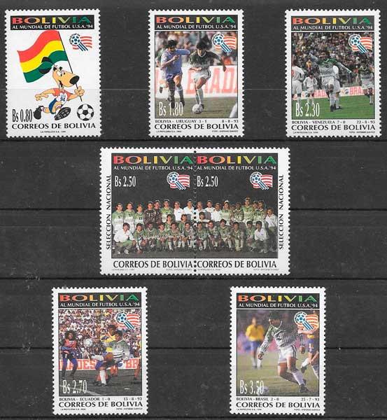 filatelia futbol 1994 Bolivia