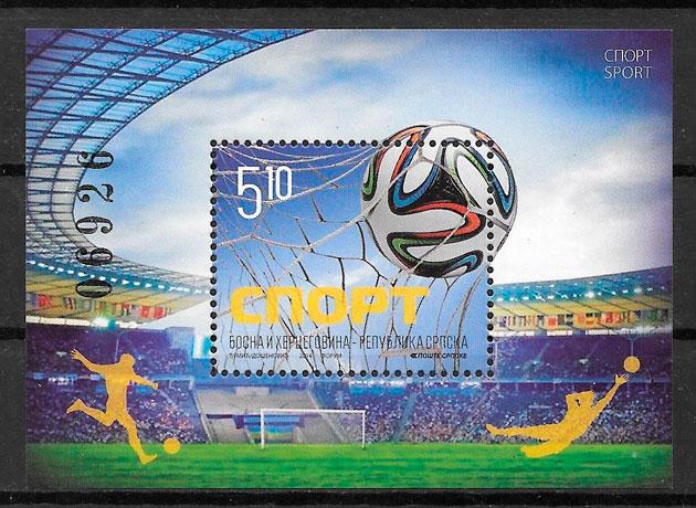 filatelia colección fútbol Bosnia Hercegovina