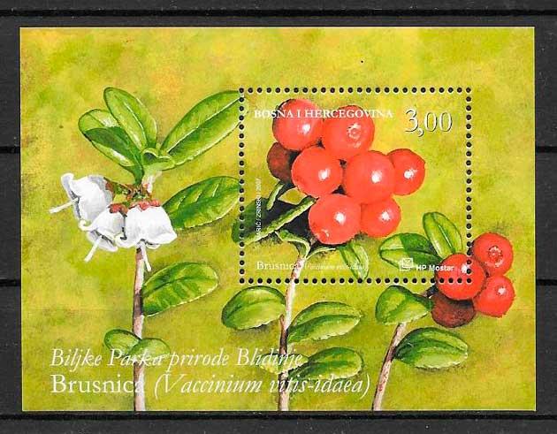 colección sellos frutas Bosnia Herzegovina Herceg Bosna 2007