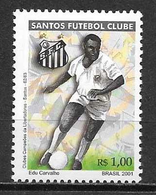 sellos fútbol Brasil 2001