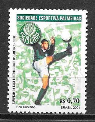 filatelia fútbol Brasil 2001