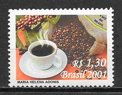 colección sellos frutas Brasil 2001