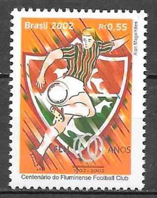 colección sellos fútbol Brasil 2002