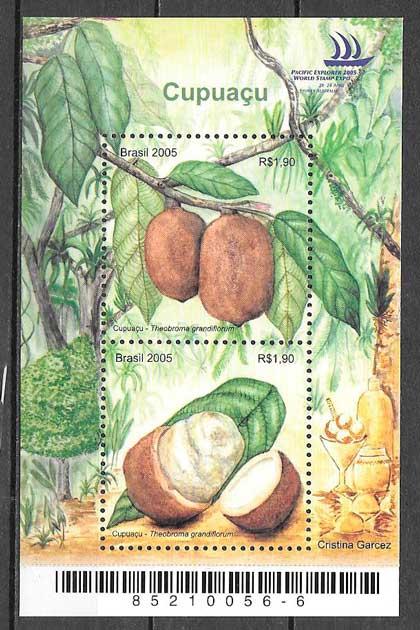 colección sellos frutas Brasil 2005