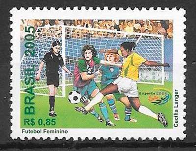 colección sellos fútbol brasil 2005