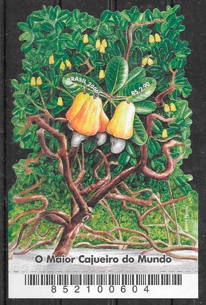 filatelia colección fruta Brasil 2006
