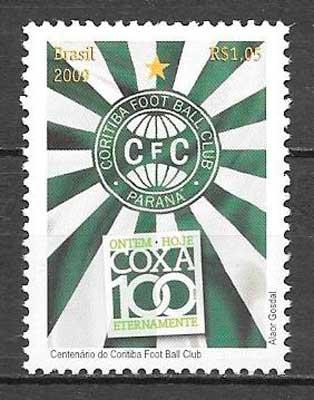 colección sellos fútbol Brasil 2009