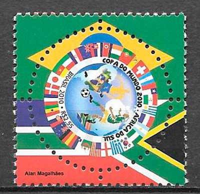 colección sellos fútbol Brasil 2010