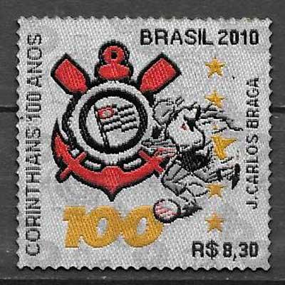 sellos fútbol Brasil 2010