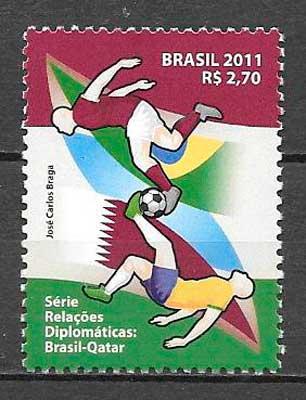 filatelia fútbol Brasil 2011