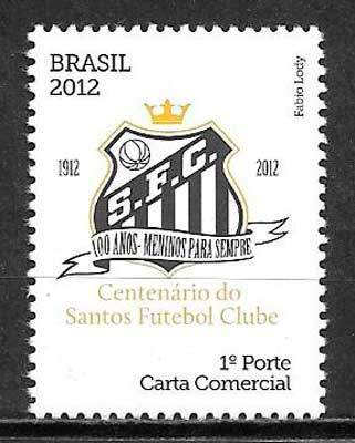 filatelia colección Brasil 2012 fútbol
