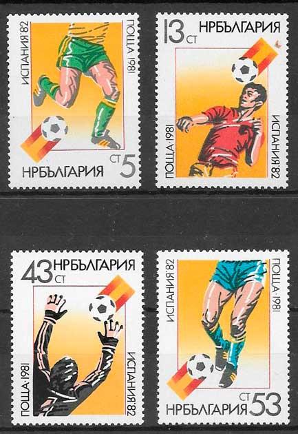 sellos fútbol Bulgaria 1981