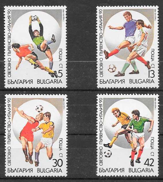 sellos fútbol Bulgaria 1989