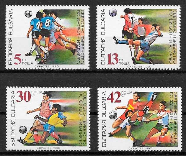 sellos fútbol Bulgaria 1990