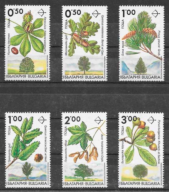 colección sellos frutas Bulgaria 1992
